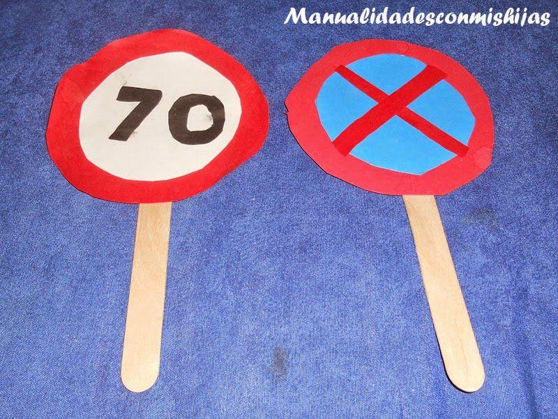 Manualidades Con Mis Hijas Senales De Trafico Otras Senales De Prohibicion O Restriccion Senales De Trafico Senales De Prohibicion Manualidades Para Jardin