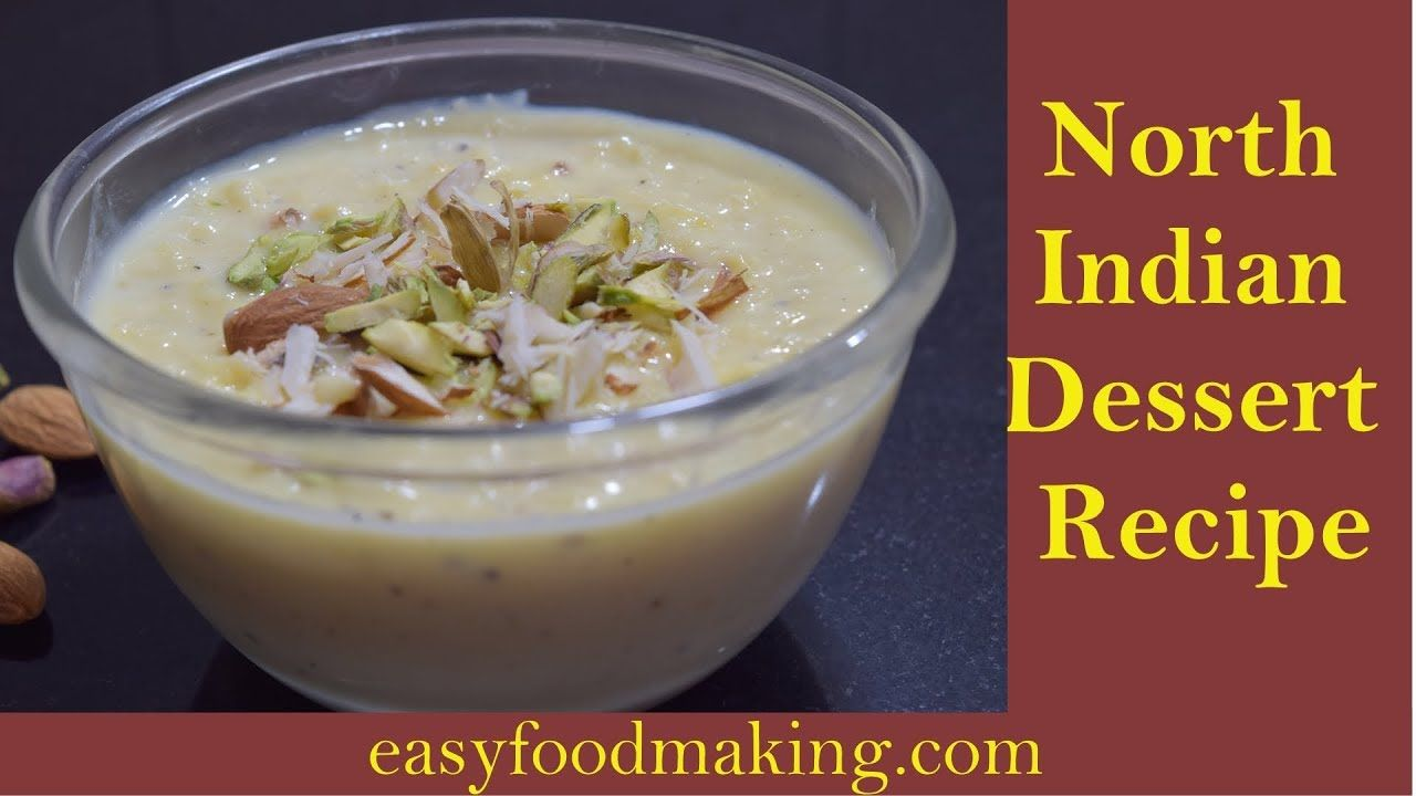 North Indian Dessert Recipe Rabri Recipe How To Make Rabri Rabdi R Indian Desserts Rabri Recipe Indian Dessert Recipes