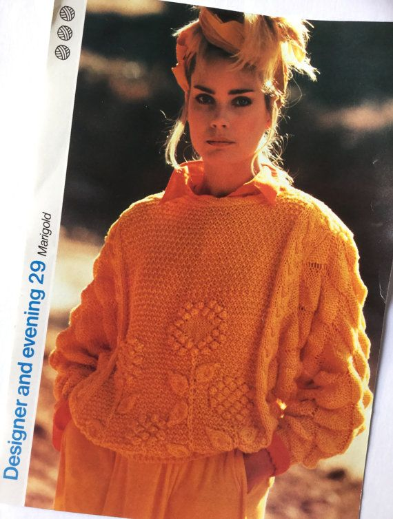 7b86ad6cf859dc Vintage 1980s knitting pattern lady s sweater