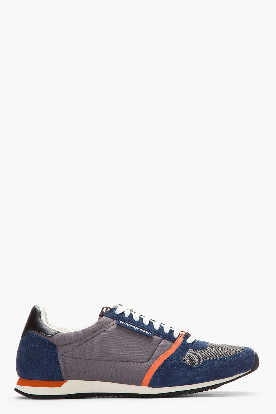 G-STAR // NAVY SUEDE-TRIMMED FUTURA SNEAKERS.   Shoes   Pinterest ...