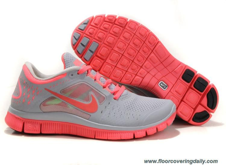 Wolf Grey Bright Crimson Womens Nike Free Run 3 510643 061