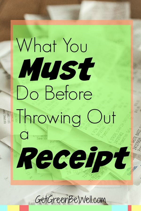 What To Do Before Throwing Out a Receipt Extra money, App and - money receipts