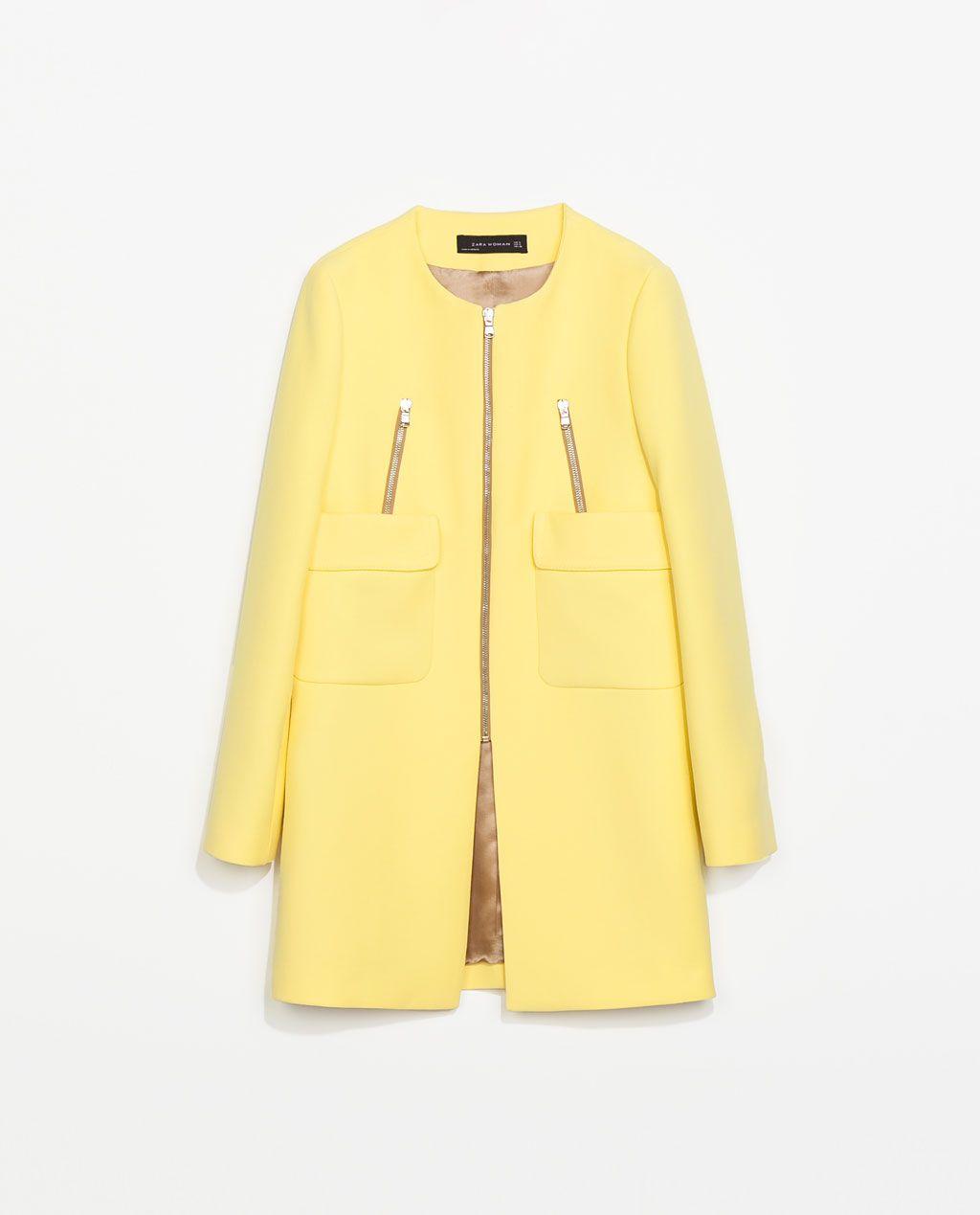 PocketsModa Coat Joven Pinterest Zara Woman With SGMzUVqp