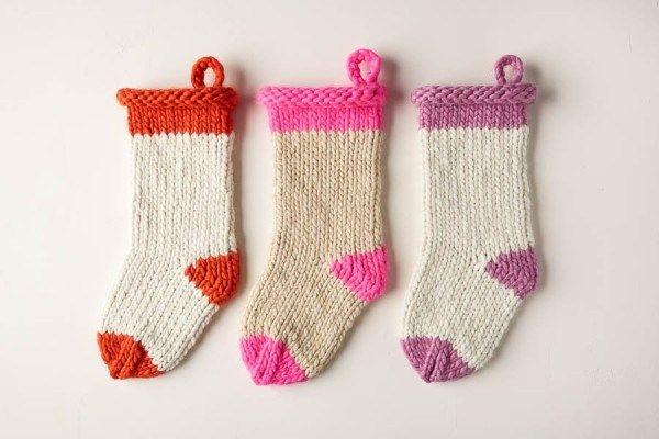Knit a Big Christmas Stocking on the Double | Christmas ...