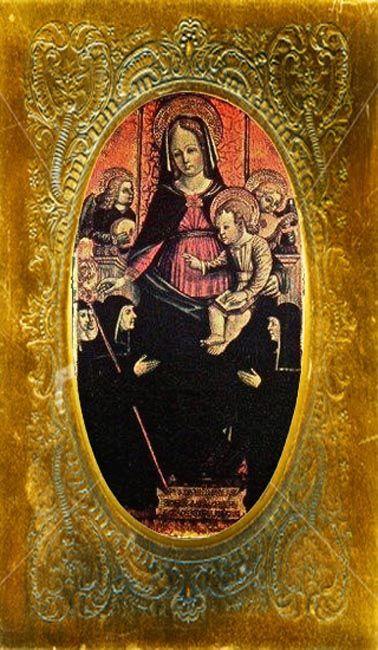 97-ANDRIOLA DE BARACCHIS-1446-1504 Pavia Italia -Madonna con Bambino- Fu  Badessa al chiostro di S.Felice | Madonna, Arte