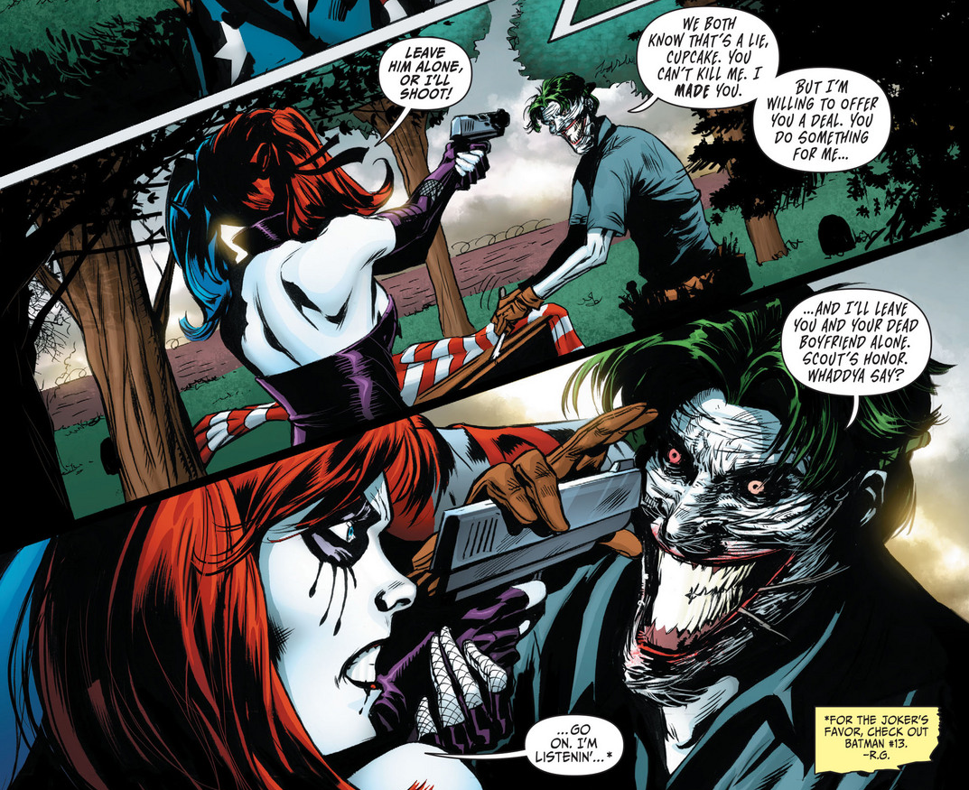 6f393a4b83e3 Harley Quinn and Joker Kissing