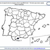 Tab to locate the clubs on a blank map of Spain