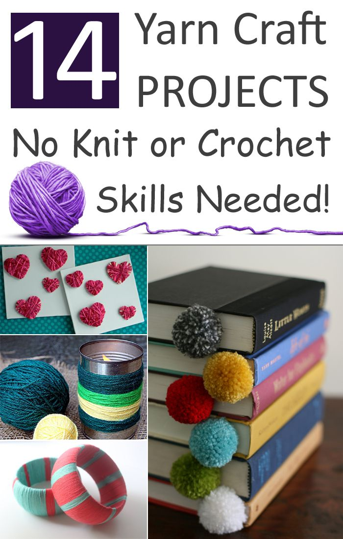 14 Yarn Craft Projects No Knit Or Crochet Skills Needed Craft