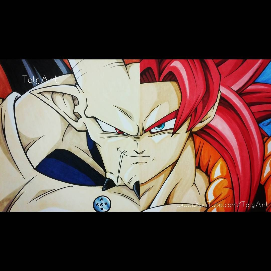 Gogeta SSJ4 vs Omega Shenron dbs t Dragon ball