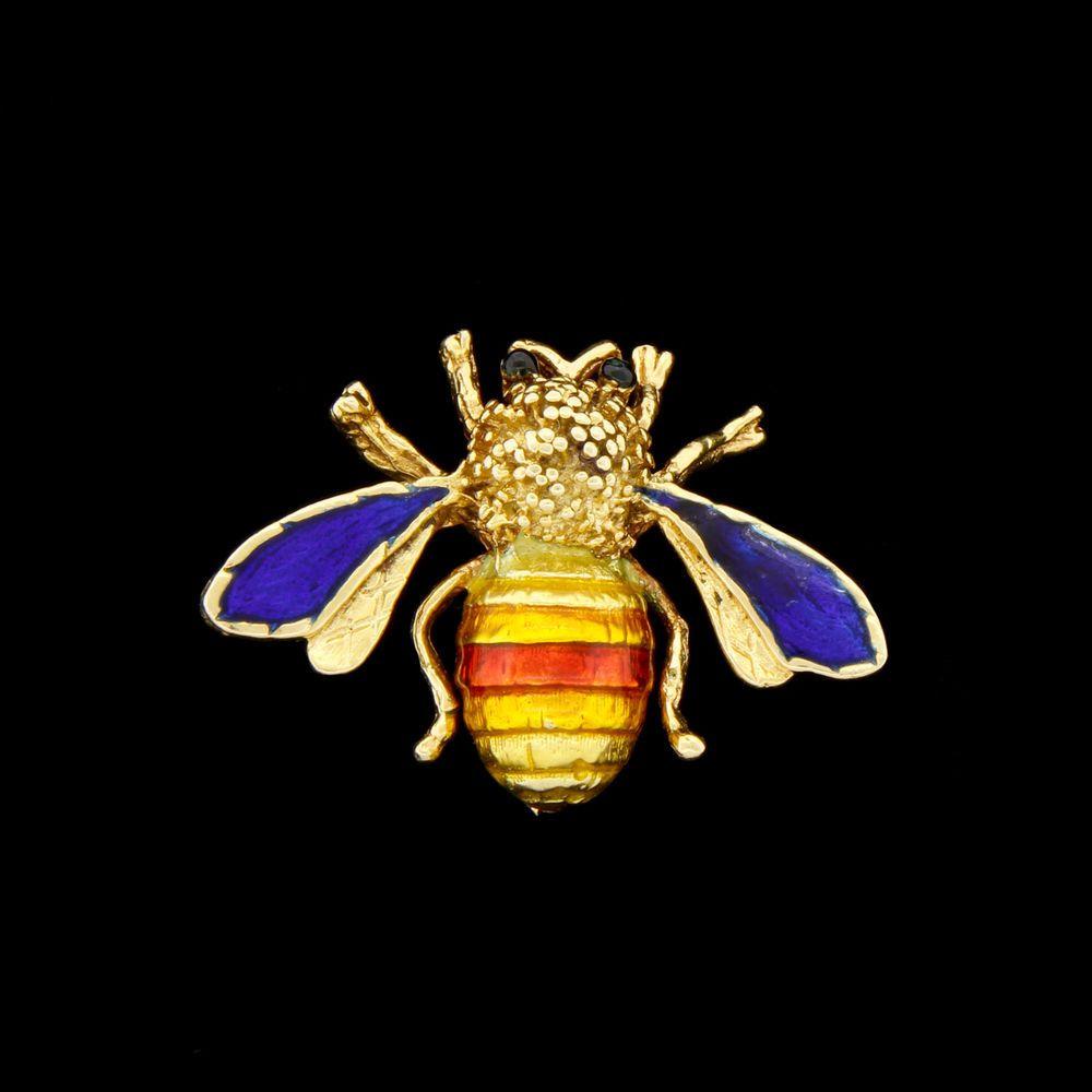 Vtg Van Cleef & Arpels 18k Gold Enamel Bug Bee Insect Pin Brooch Bee My Honey?!