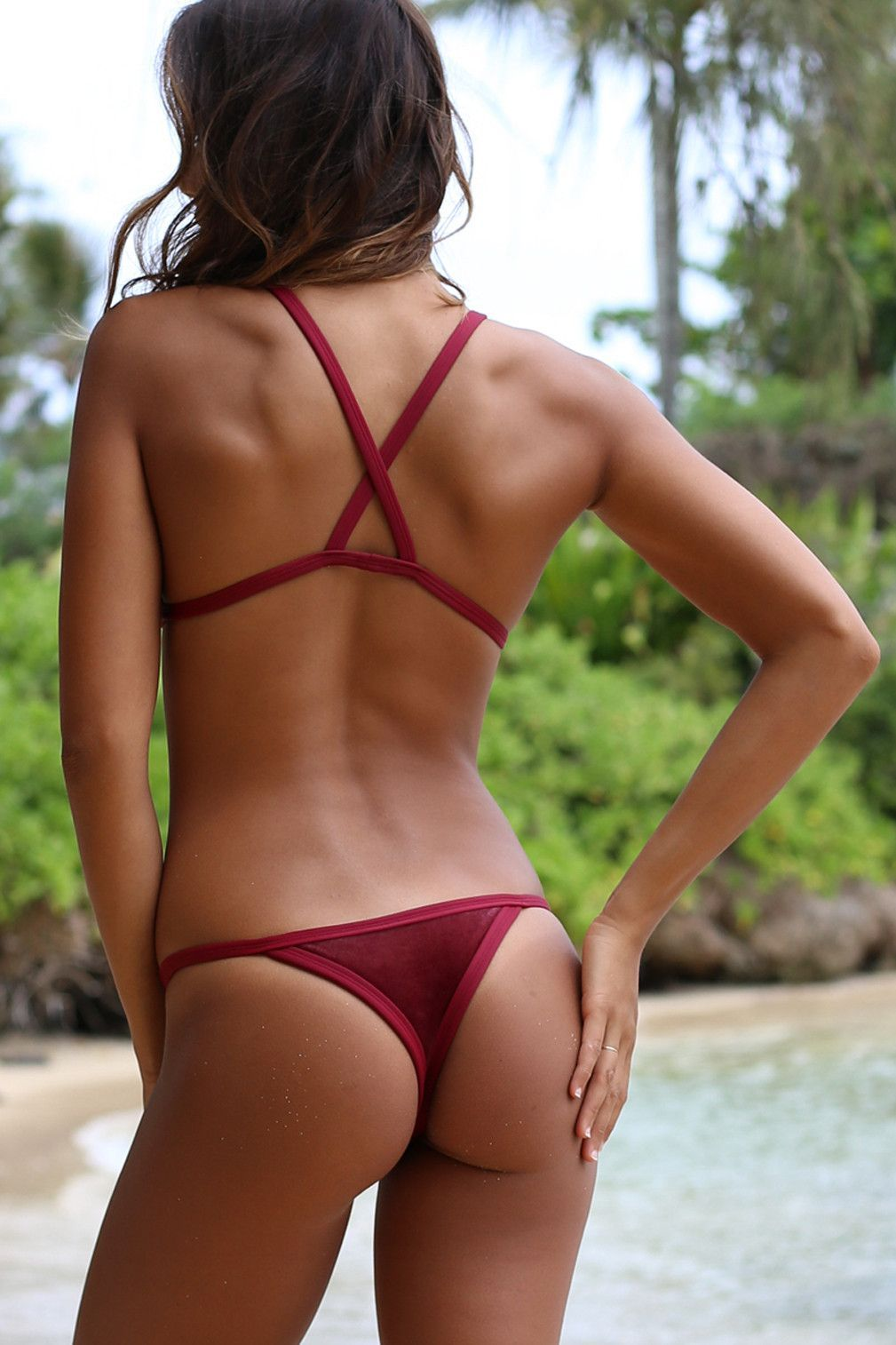 Posh Pua 2016 Velvet Kainalu Top in Rouge | Swimwear