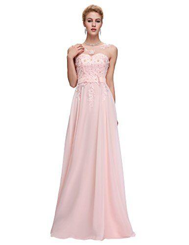 Yafex Women Prom Chiffon Long Evening Dress Pink Size 20|Girly Dress ...