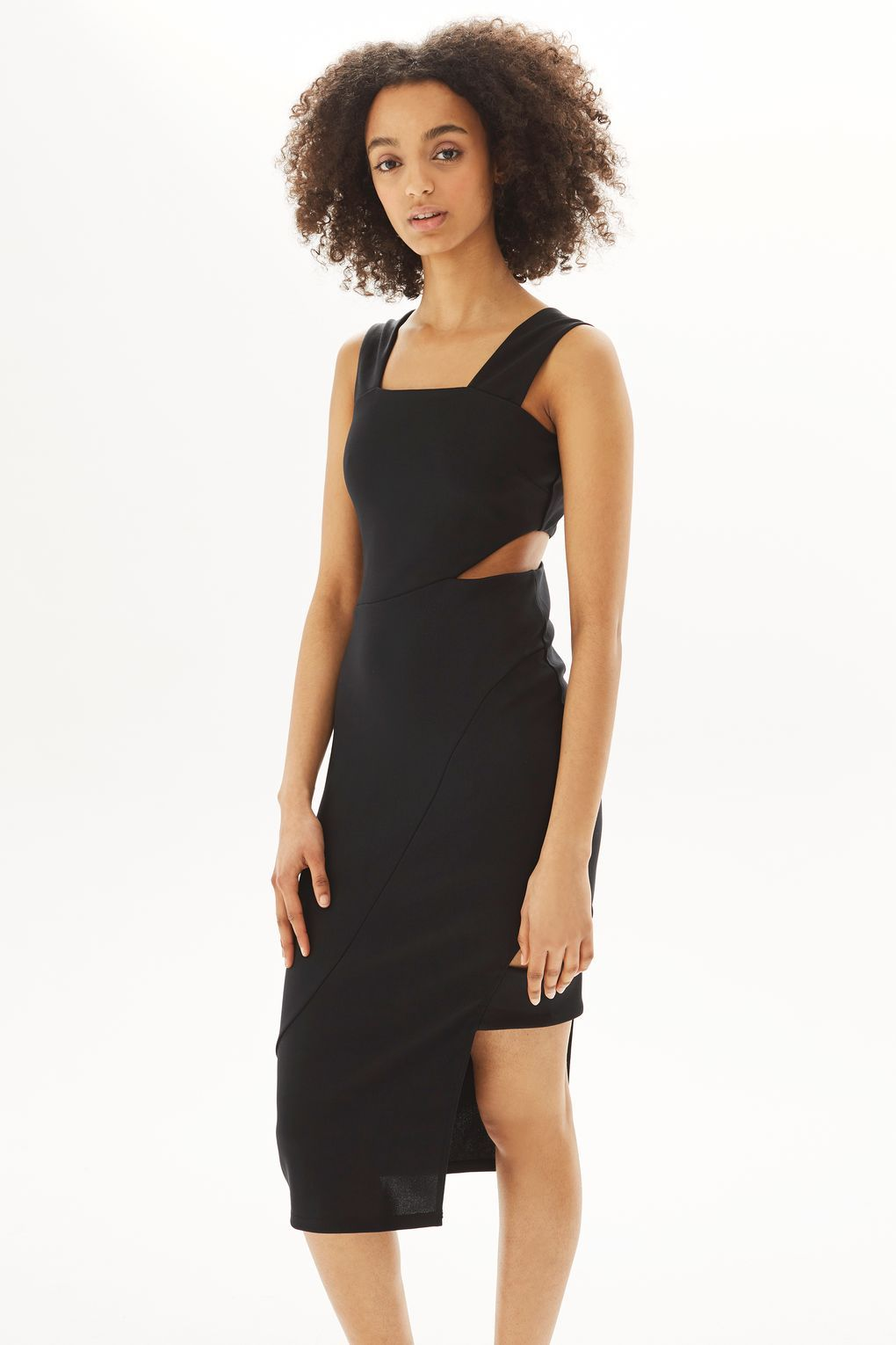 Wide strap midi dress dresses clothing midi dresses topshop