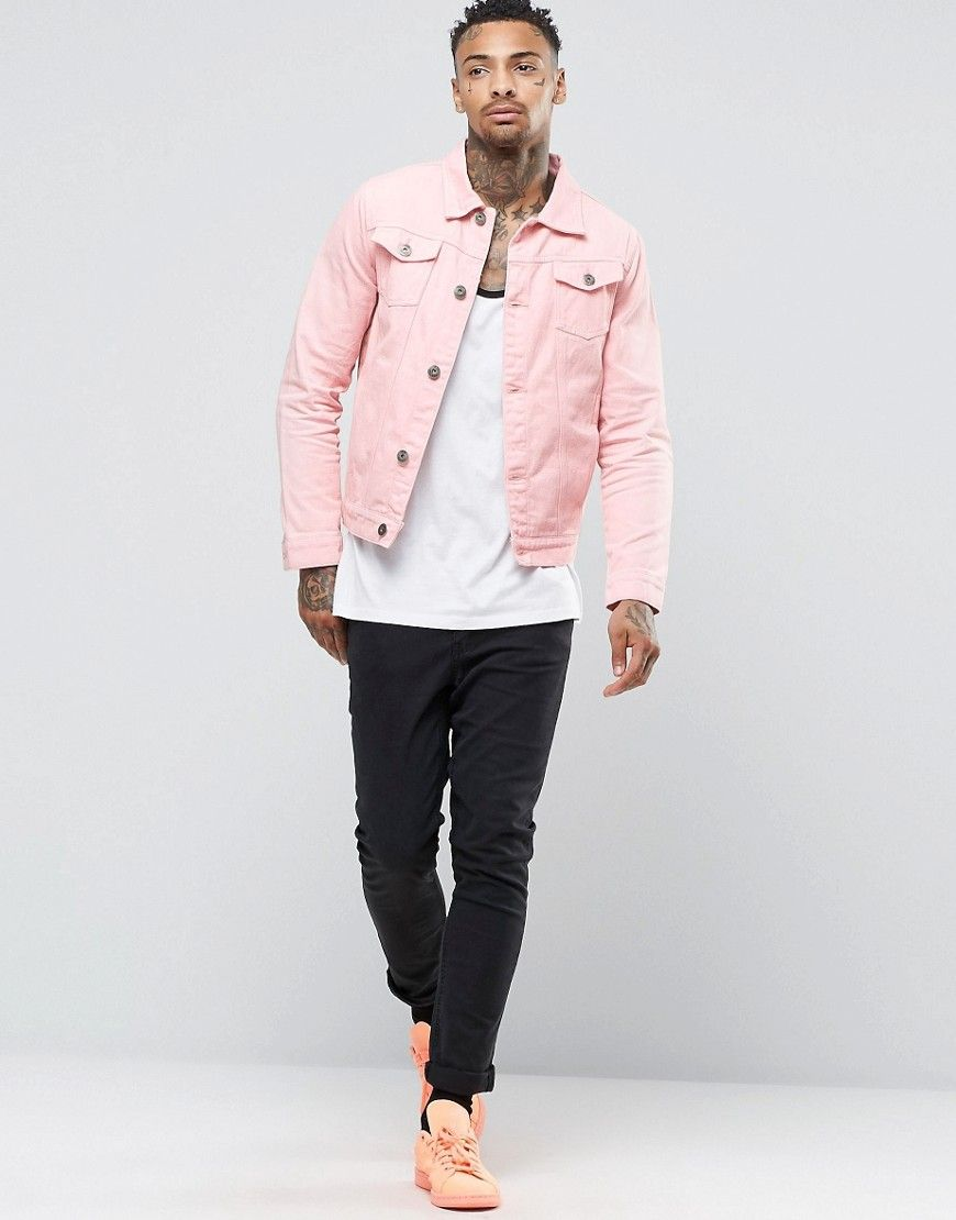 Shop Liquor & Poker Pink Denim Jacket at ASOS.