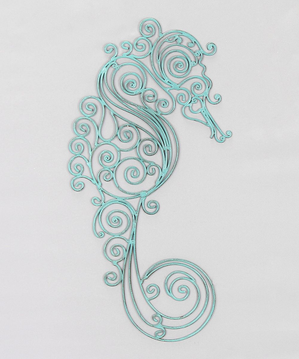 Metal sea horse wall art something special every day tatoos