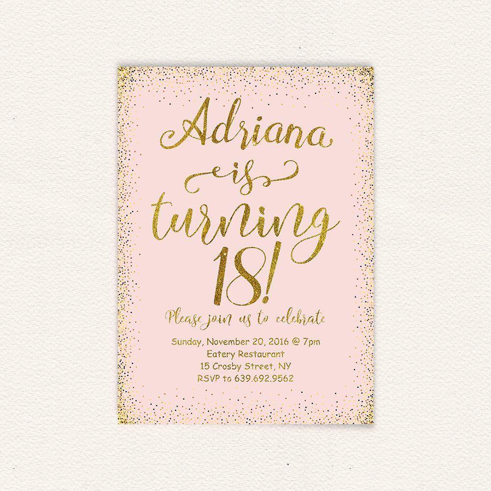 Einladungskarten Einladung 18 Geburtstag Einladung Insparadies