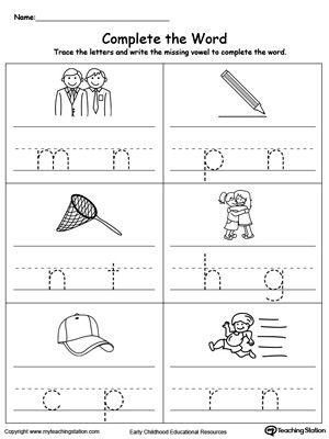 Worksheet Missing Vowel Sound Worksheet cvc short vowel sounds worksheets k teacherspayteachers com free fill in the missing part5 worksheet help your kindergartener