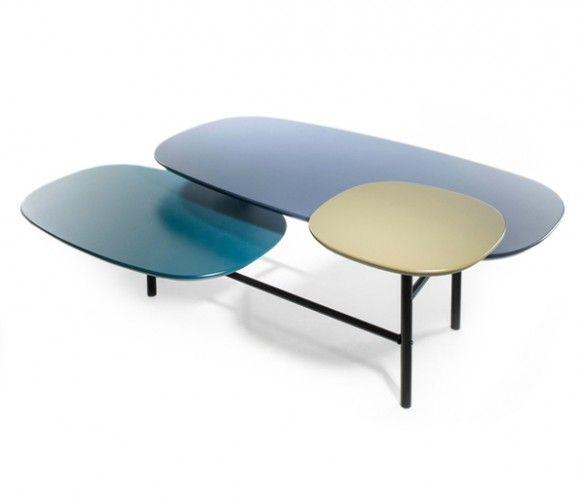 Les Tables Basses Voient Triple Furniture Blue Coffee Tables Furniture Design