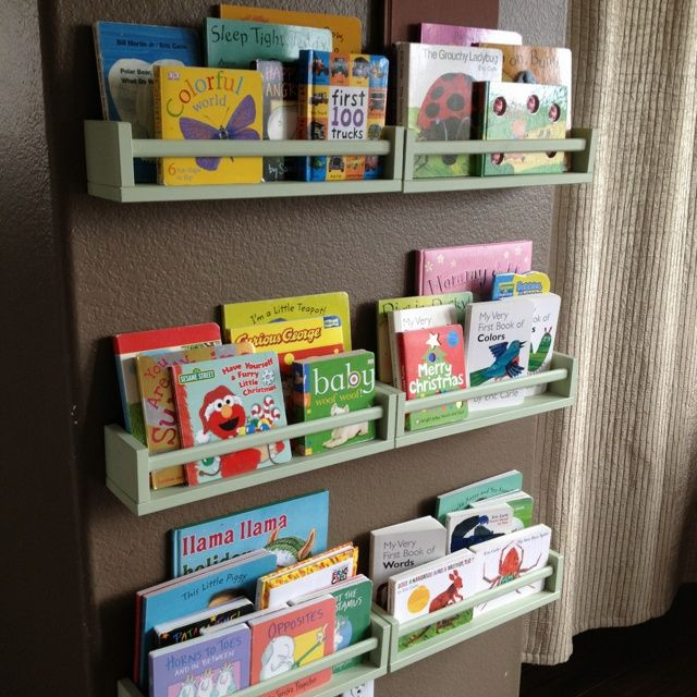 Diy Ikea Spice Rack To Children S Bookshelf Ikea Spice Rack Ikea Diy Childrens Book Shelves