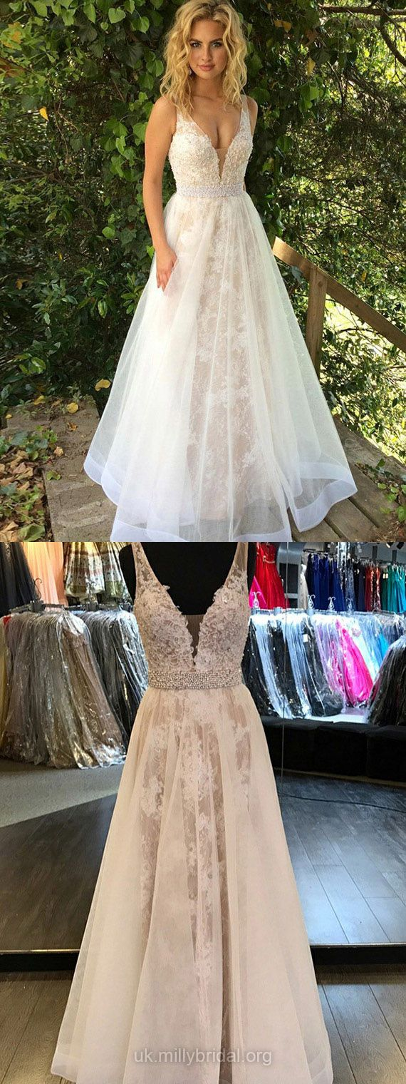Long prom dresses sweet princesses prom dresses for teens vneck