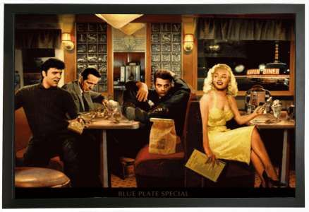 "3D Picture Legends in Diner /""Blue Plate Special/"" by Chris Consani"