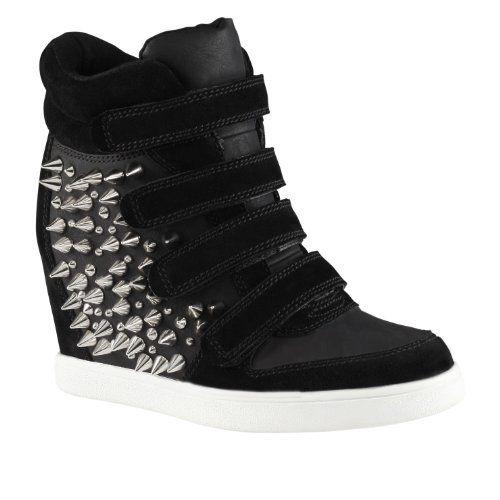 Hidden Wedge Studded Sneakers |