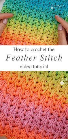 Crochet point de plume que vous pouvez facilement apprendre | CrochetBeja   – Geschenkideen