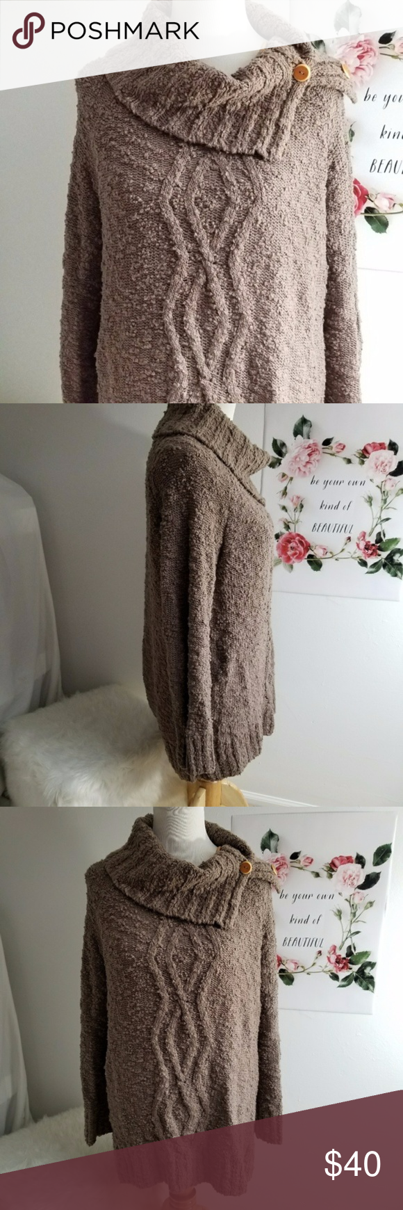 Anthropologie Moth Cowl Neck Sweater Medium Beautiful cowl neck ...