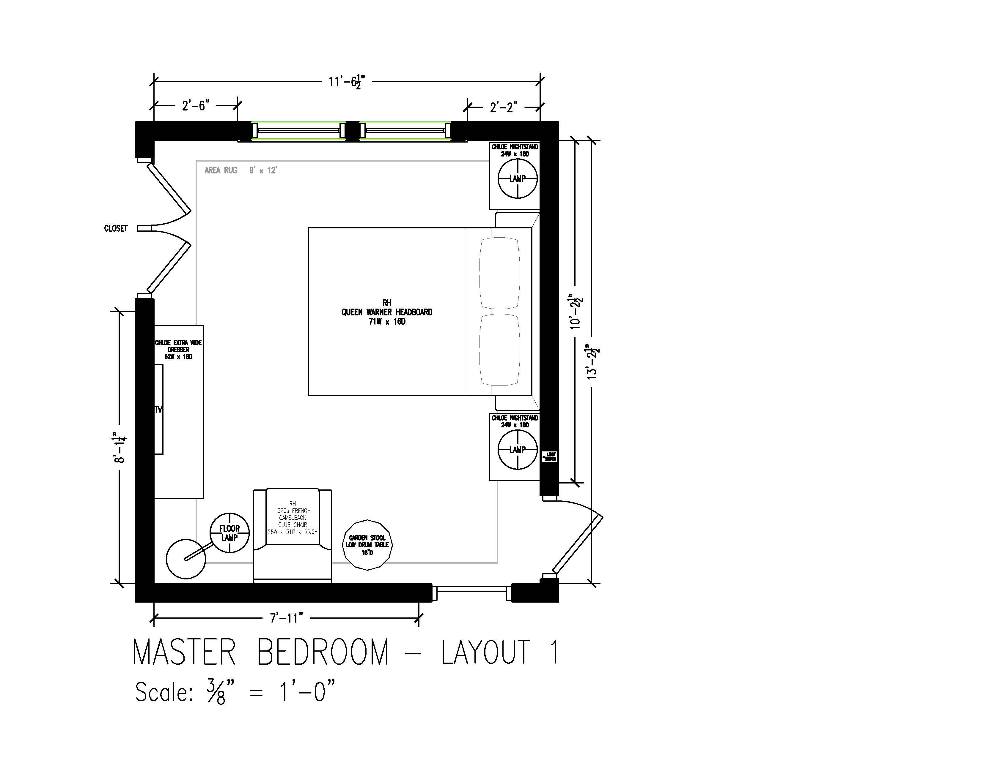 Master bedroom furniture layout  Master Bedroom furniture layout with