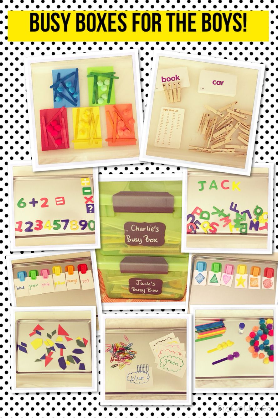Dollar store supplies to make busy boxes