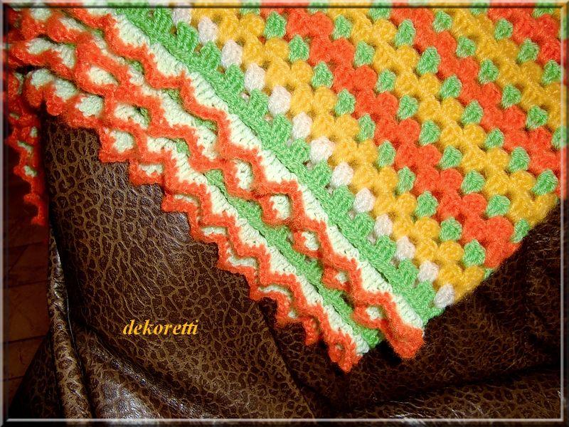 Häkeldecke granny stripes | Gestricktes & Gehäkeltes | Pinterest ...