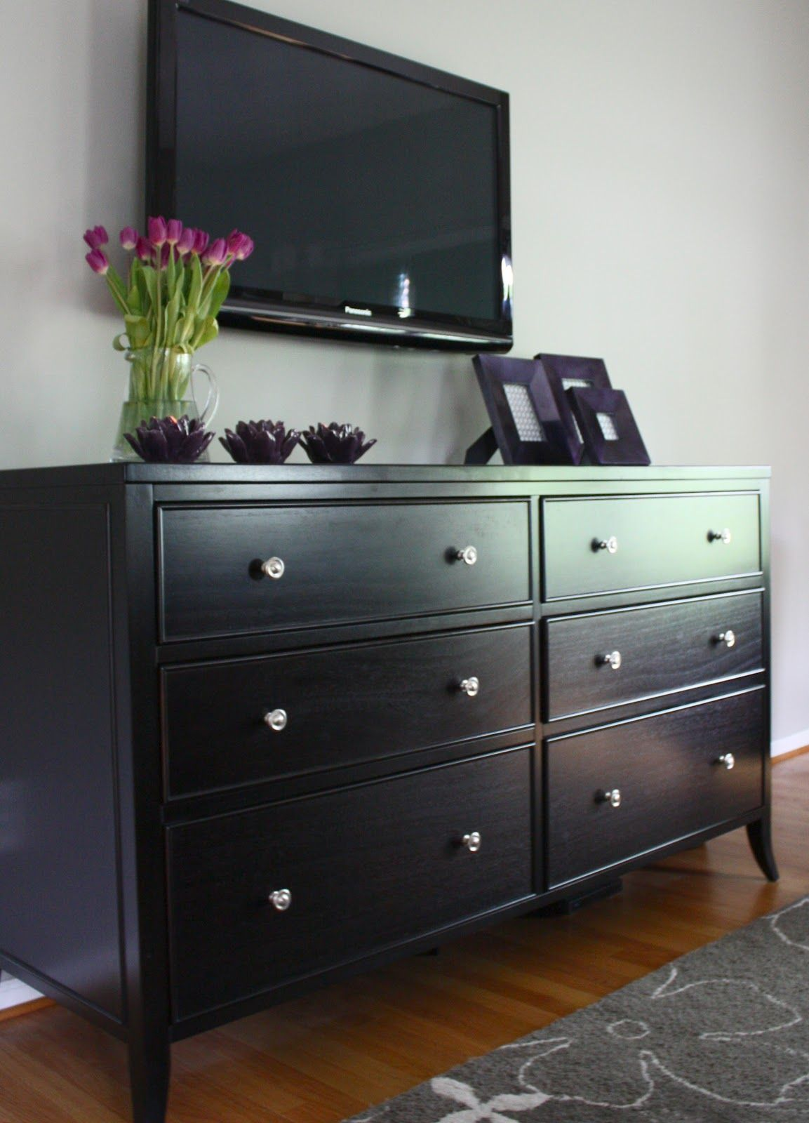 I Have Black Furniture This Is What Am Going To Do My Dresser Remove The Mirror And Out Television On Wall