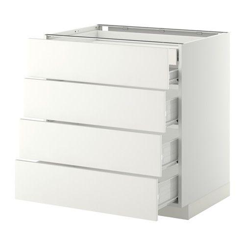 METOD / FÖRVARA Arm bx 4 frent/2 gv bx/3 gv méd - branco, Häggeby branco, 80x60 cm - IKEA