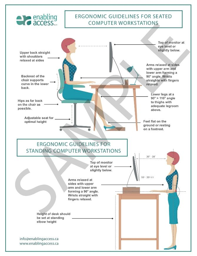 ergonomic office diagram downloadable