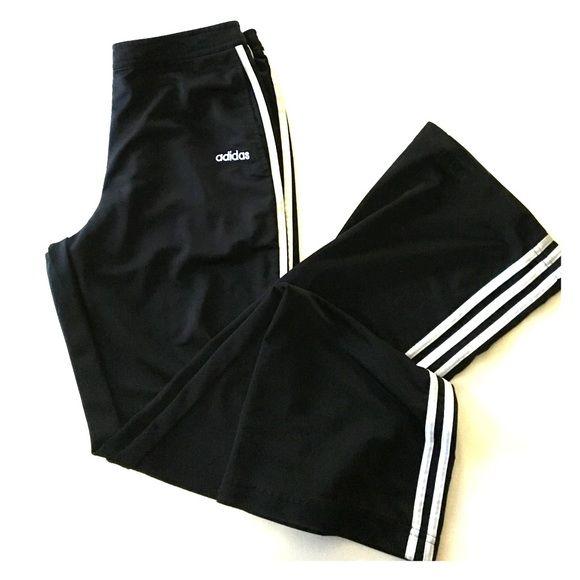 Adidas Track Pants Adidas Track Pants original fit. Size medium. Side pockets. Three stripes down each outside legs Adidas Pants Track Pants & Joggers