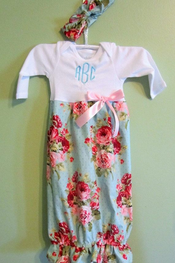 Layette gown Boutique baby girl wholesale by Handmade4LittleGirls ...