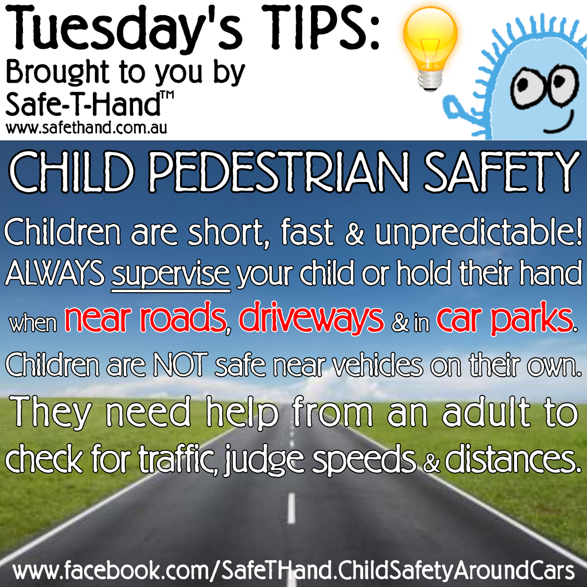 Road Safety Tip Child Pedestrian Safety For More Tips