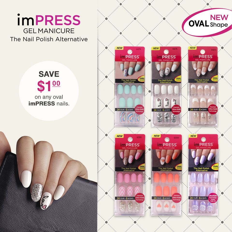 New Impress Oval Shape Nails Are Here Save 1 On Any Impress