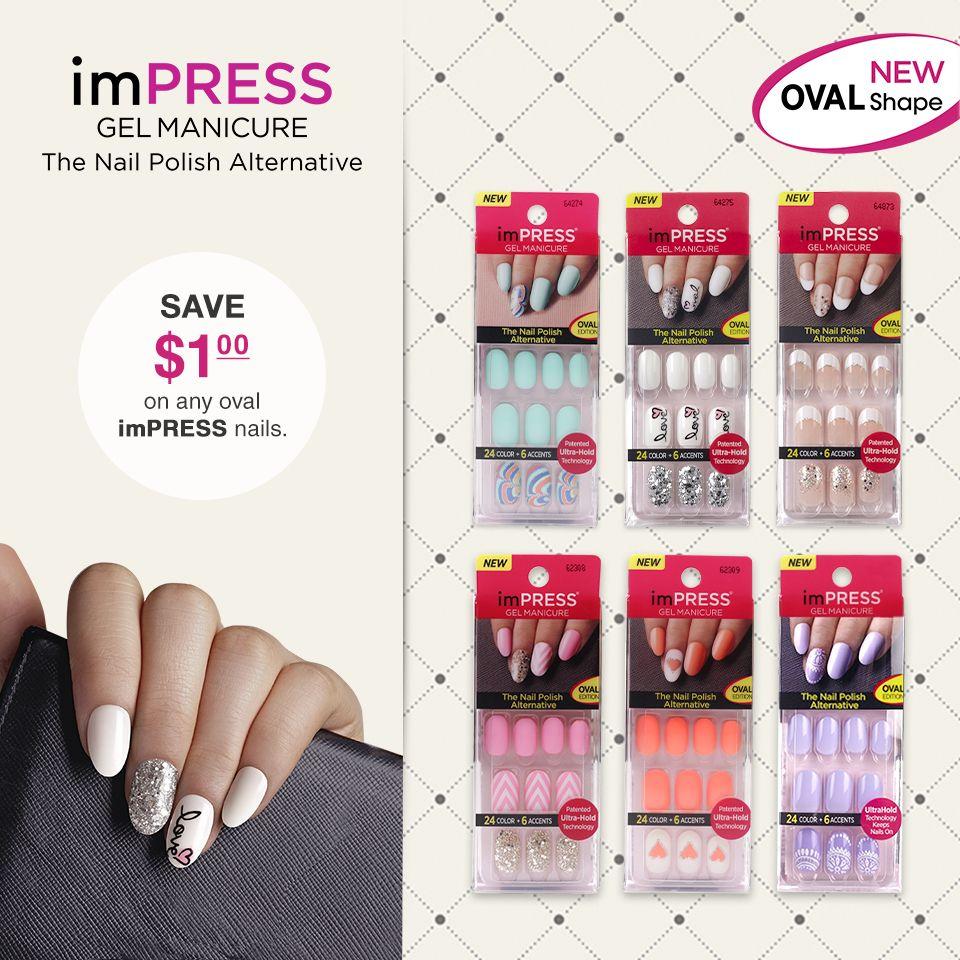Impress press on manicure nails my style pinterest - New Impress Oval Shape Nails Are Here Save 1 On Any Impress Nails