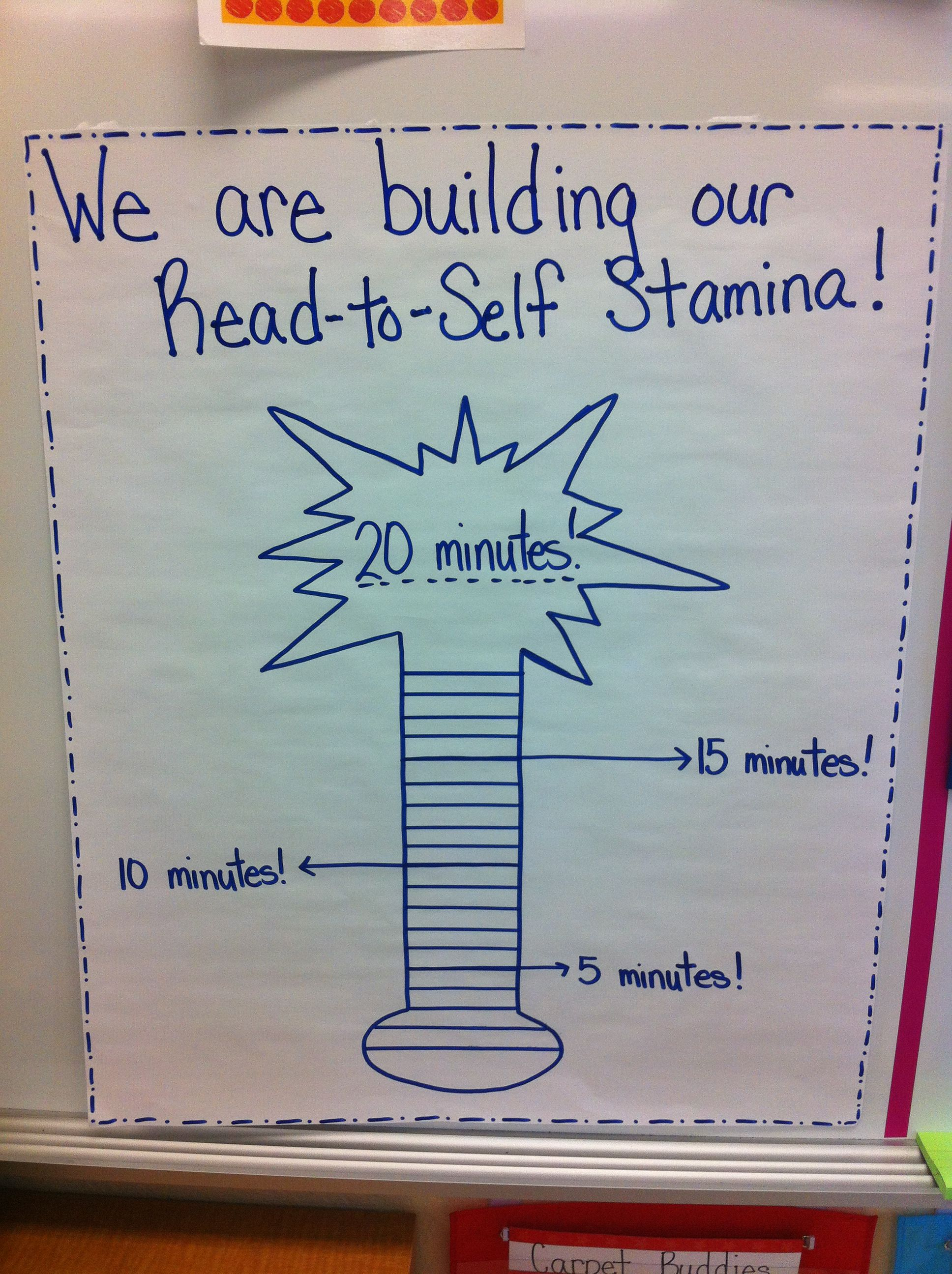 We are building our read to self stamina in kindergarten also rh pinterest