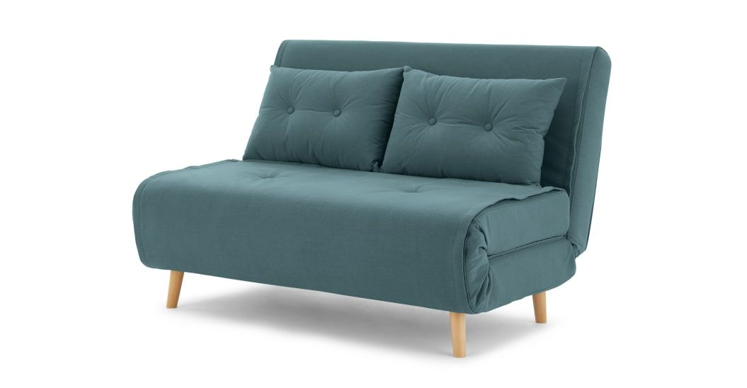 Haru Small Sofa Bed Sherbet Blue In 2020 Small Sofa Sofas For Small Spaces Sofa Bed