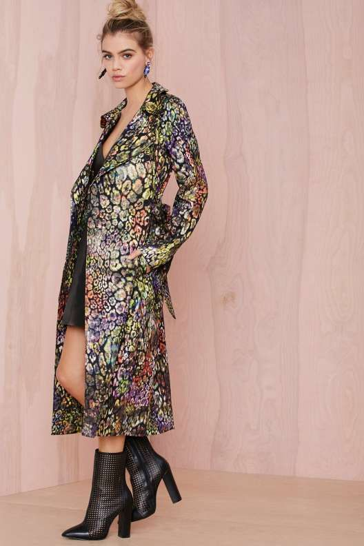 Nasty Gal Collection Great Escape Jacquard Trench Coat
