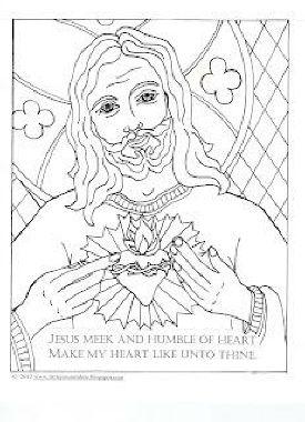 Little Jesus And Me Coloring Pages Sacred Heart Of Jesus Jesus