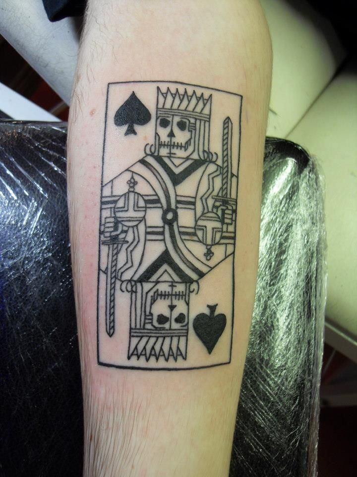 King of spades design done by paul from screaming canvas