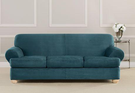 3 Piece Sofa Slipcover Slipcovered Sofa Slipcovers Washable Furniture 3 piece t cushion sofa slipcover