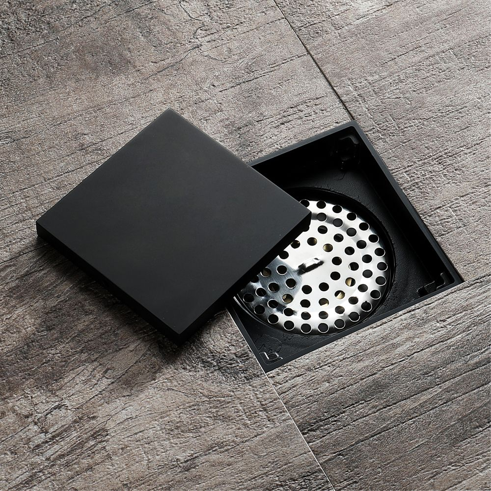 Hideep Black Modern Design Deodorizing Bathroom Floor Drain For
