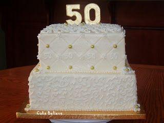 Square Buttercream Cake Birthday Ideas In 2019 50th