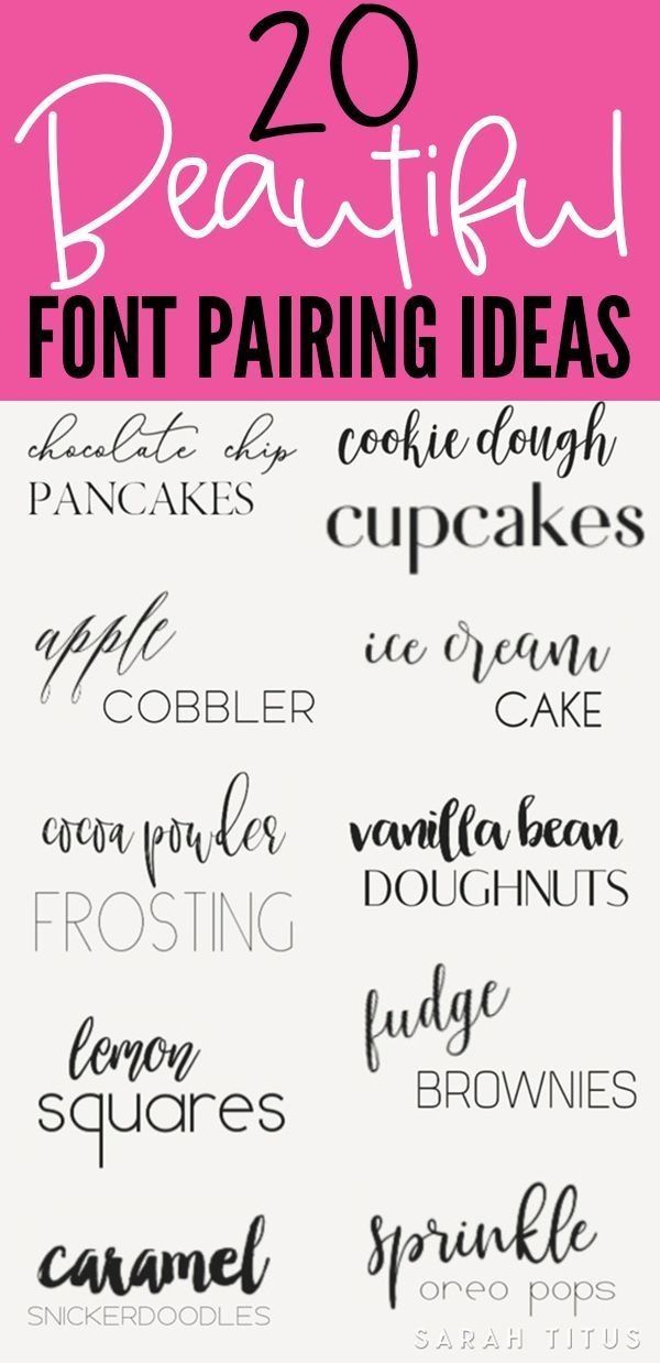 Best Font Combination Ideas