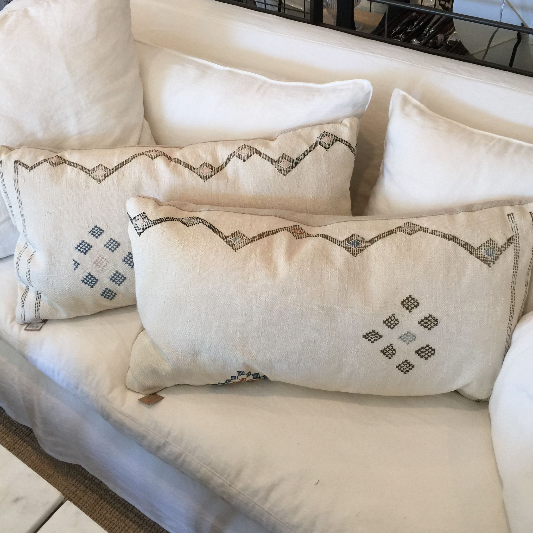 "Vintage Kilim Pillows 17"" X 32"""