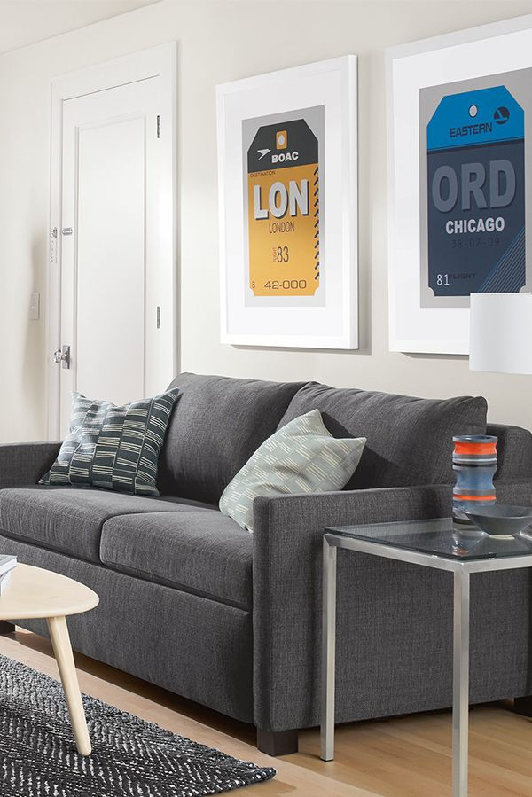 an easy to use mechanism makes this sleeper sofa s set up a breeze rh pinterest com